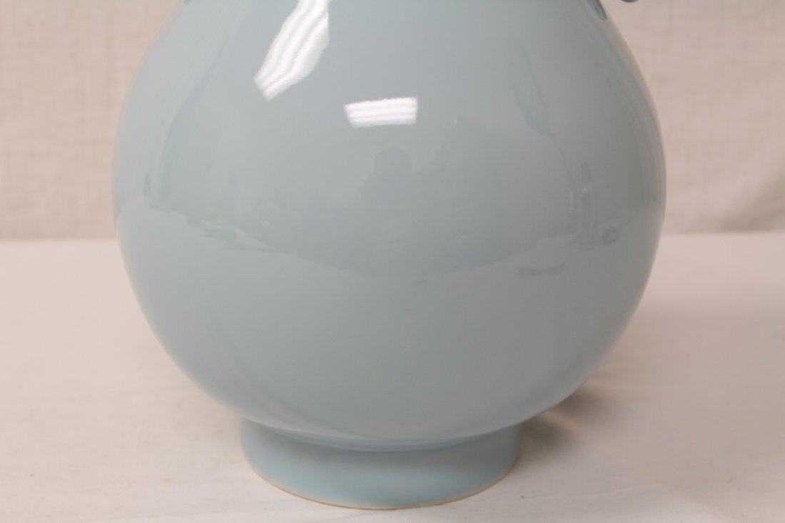 Chinese sky blue glazed porcelain jar - 5
