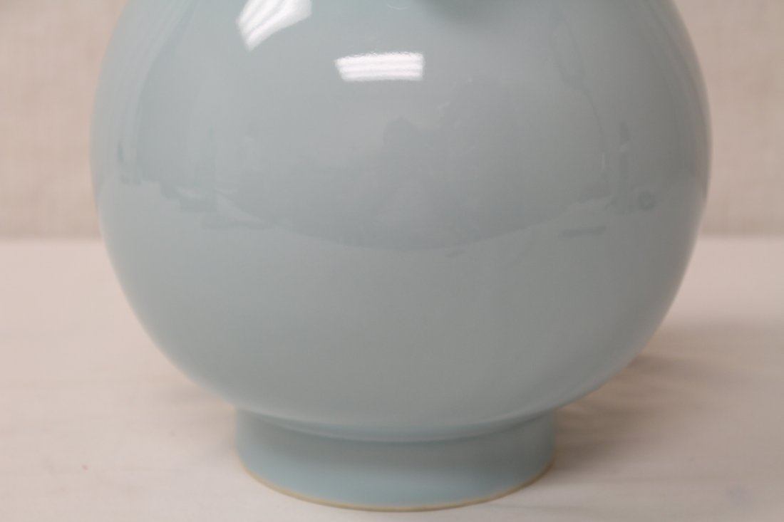 Chinese sky blue glazed porcelain jar - 7
