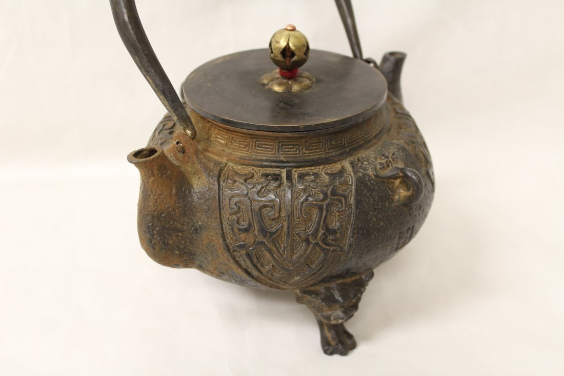 Chinese cast iron teapot - 5