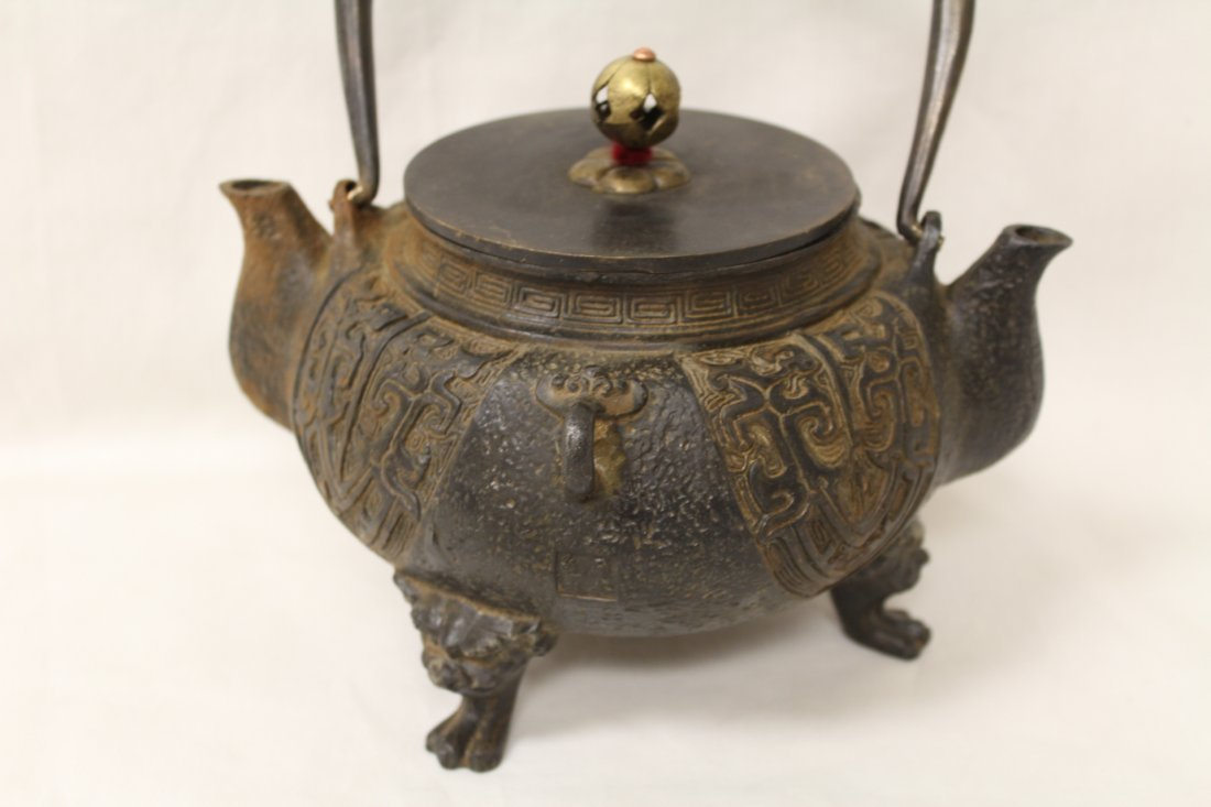 Chinese cast iron teapot - 6