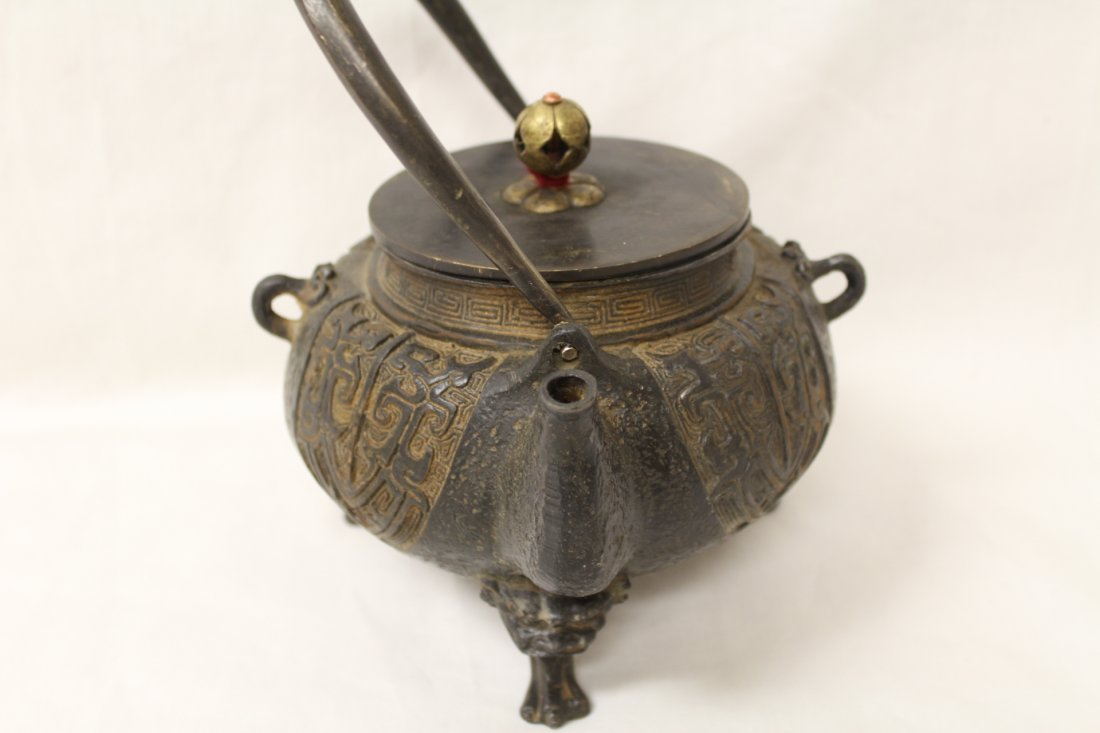 Chinese cast iron teapot - 7