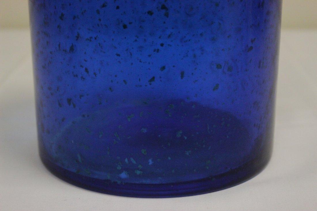 Chinese blue Peking glass brush holder - 8