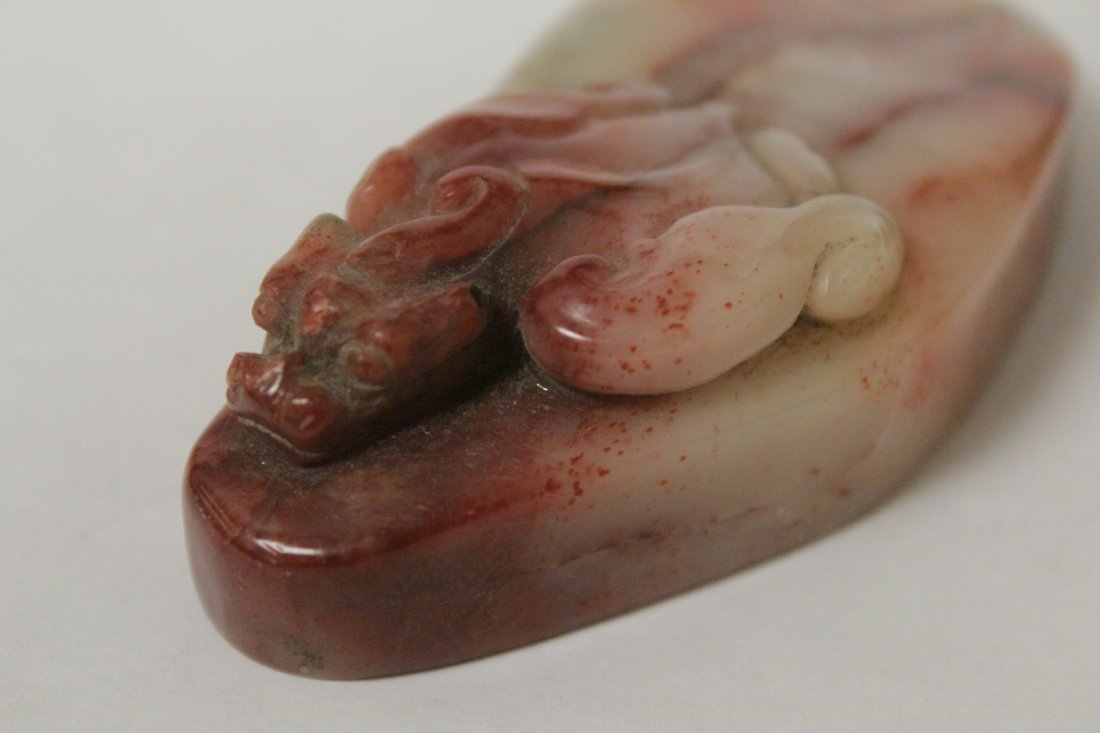 Chinese vintage shoushan stone seal - 7
