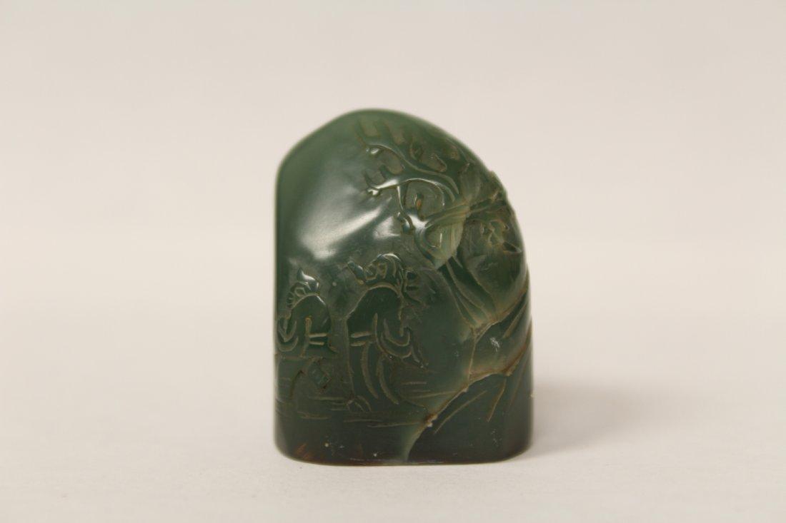 Chinese vintage shoushan stone seal - 2