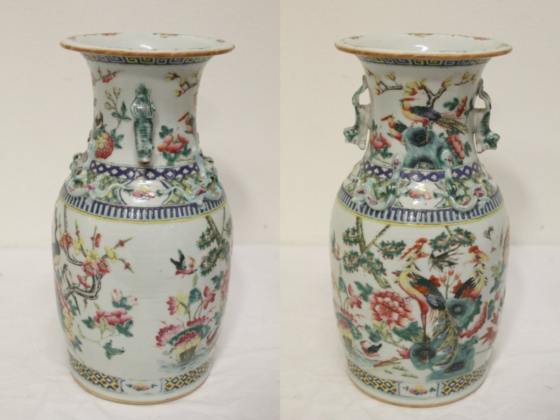 Antique Chinese famille rose vase - 6