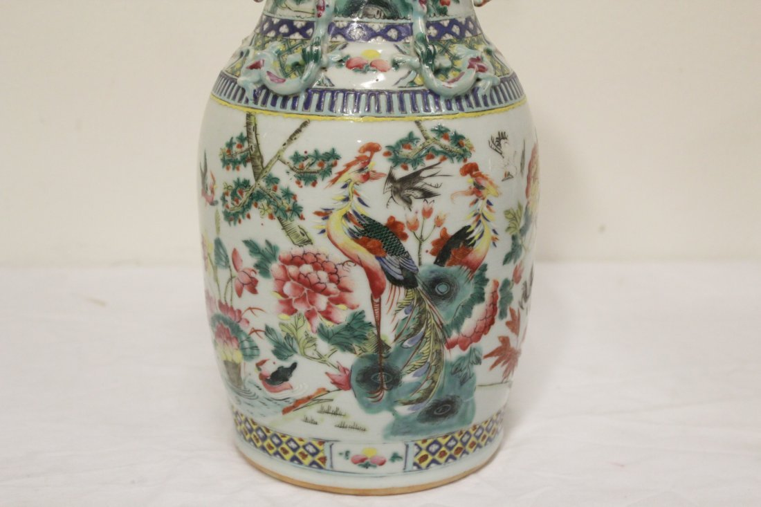 Antique Chinese famille rose vase - 8