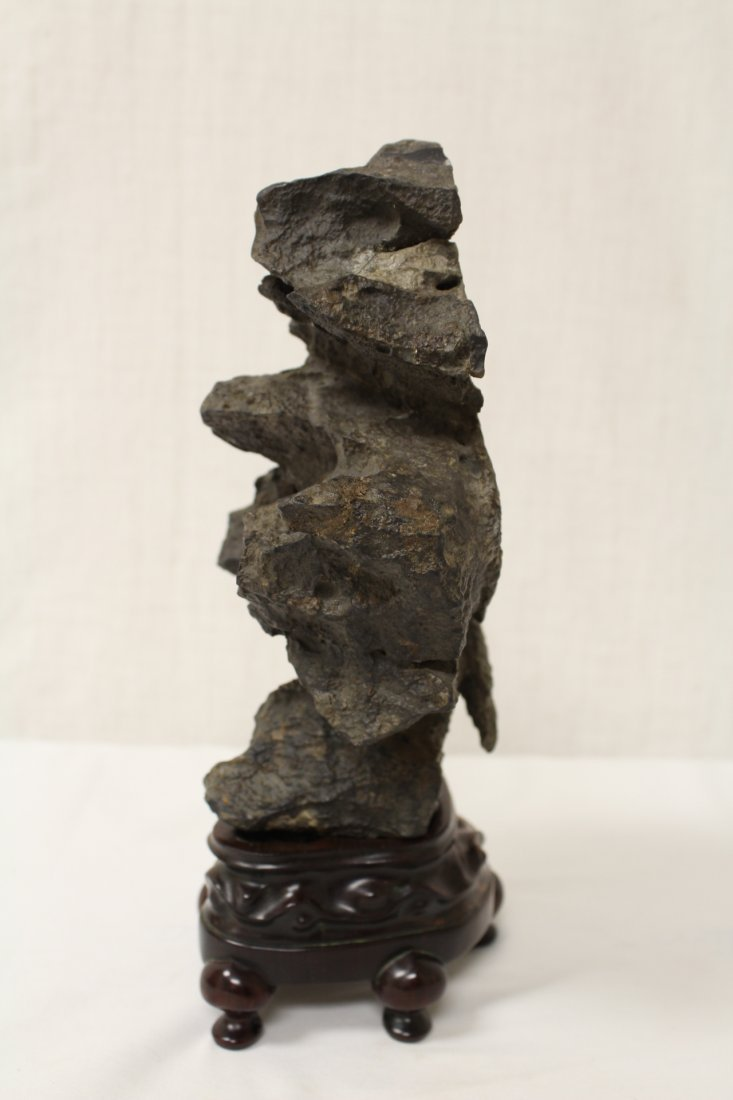 Chinese table scholar stone with stand - 7