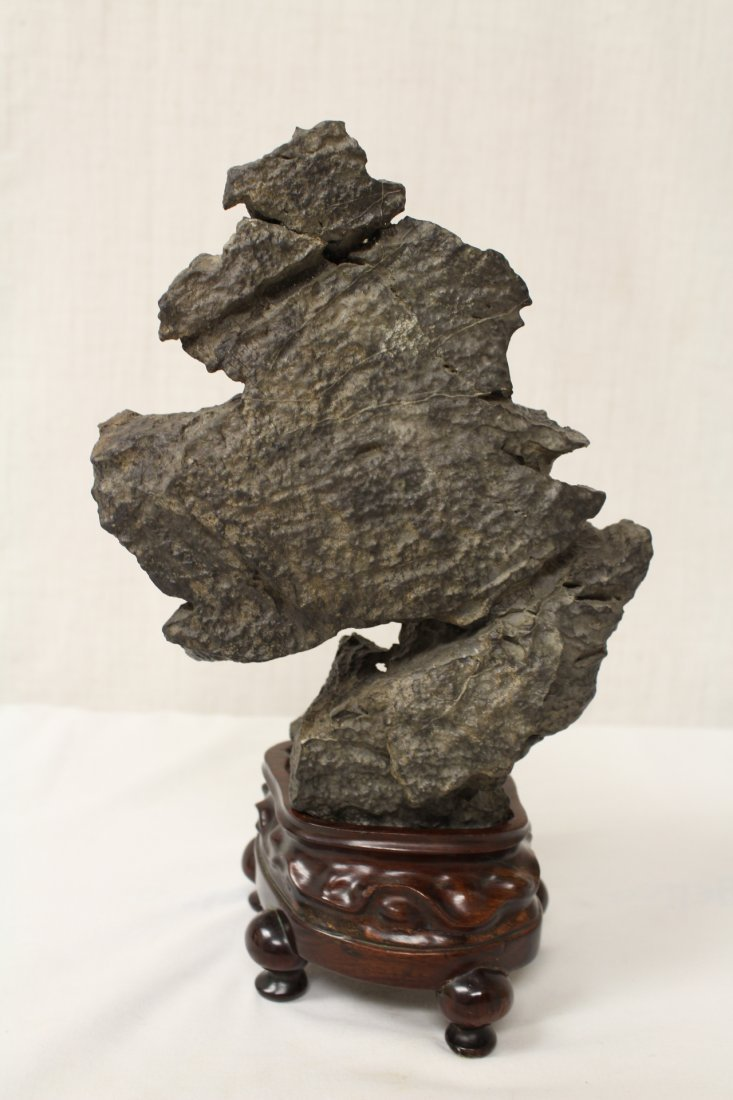 Chinese table scholar stone with stand - 8
