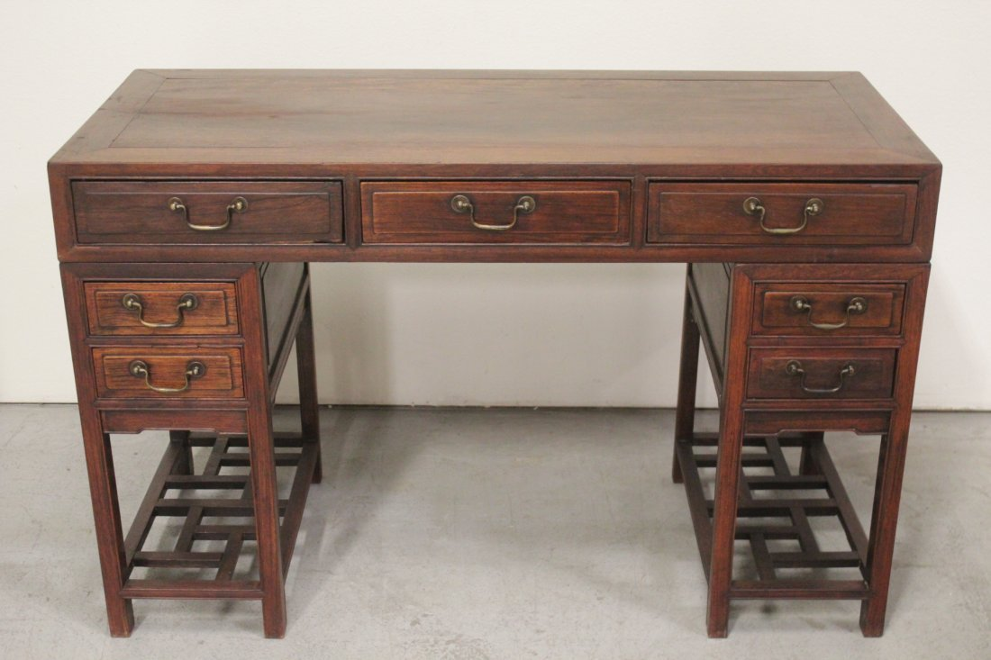 Chinese vintage hong-mu desk