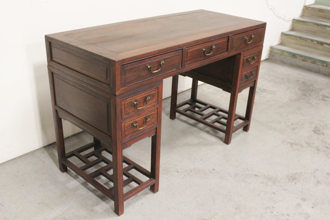 Chinese vintage hong-mu desk - 7