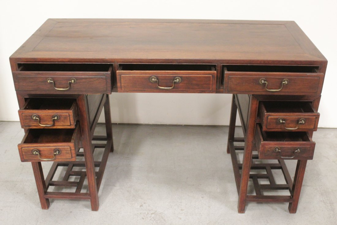 Chinese vintage hong-mu desk - 8