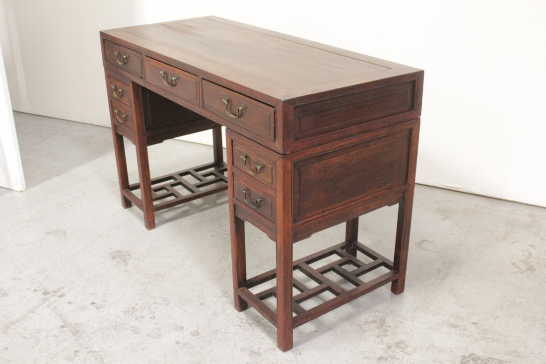 Chinese vintage hong-mu desk - 9