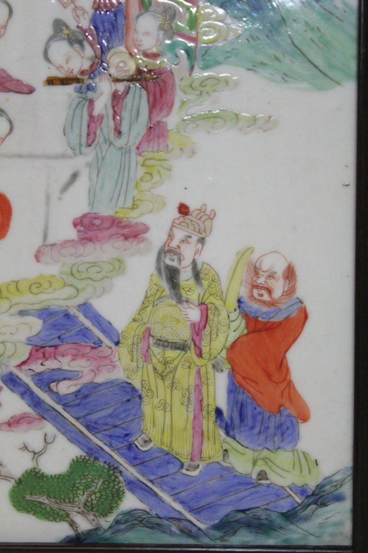 Chinese antique famille rose porcelain plaque - 6