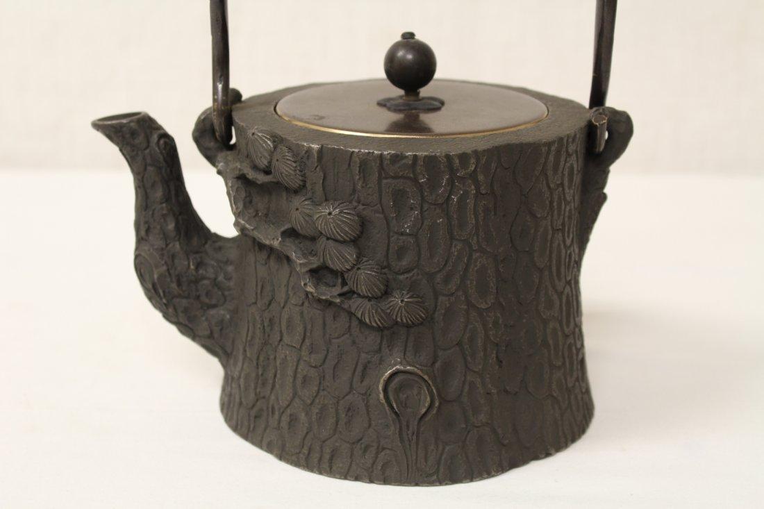 Chinese cast iron teapot - 5