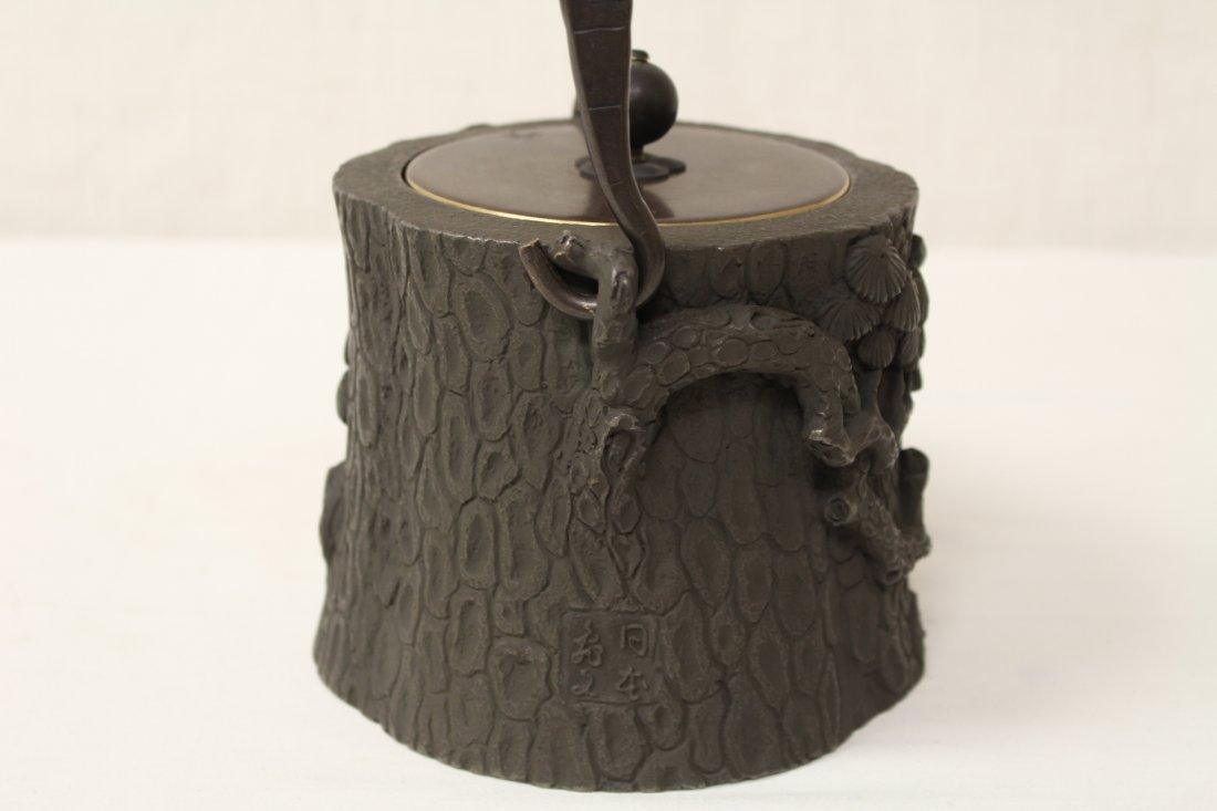 Chinese cast iron teapot - 6