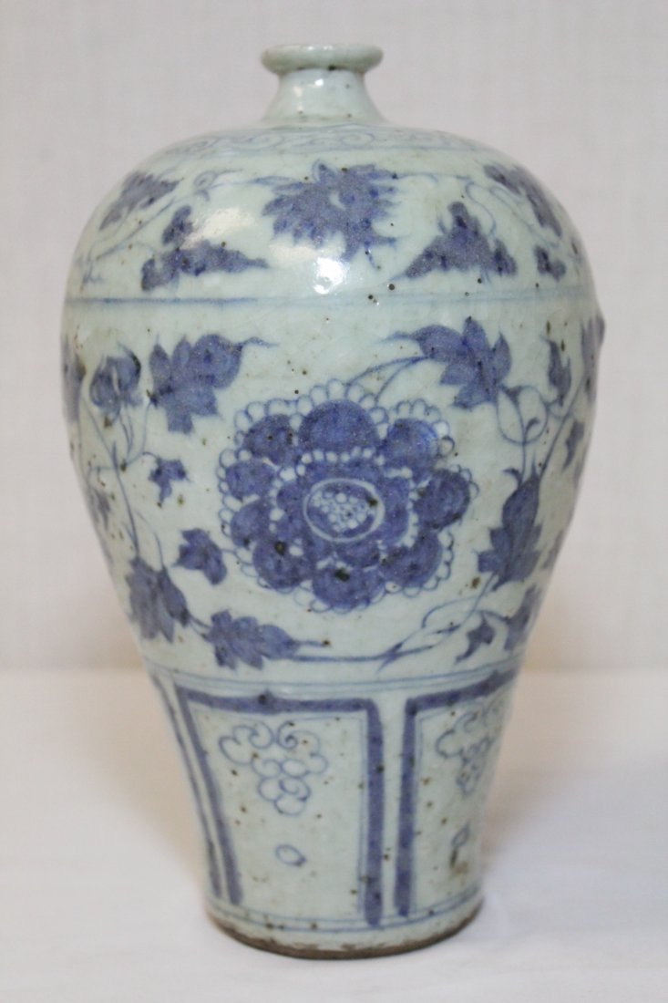 Chinese blue and white meiping - 3