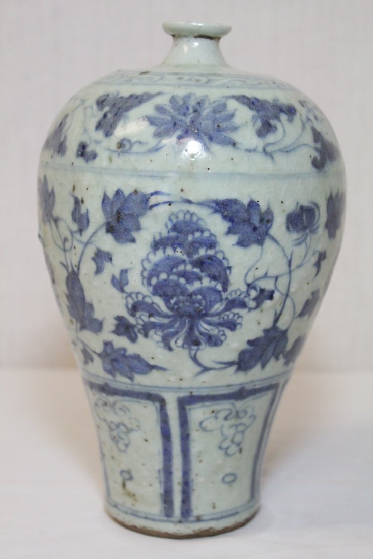 Chinese blue and white meiping - 4