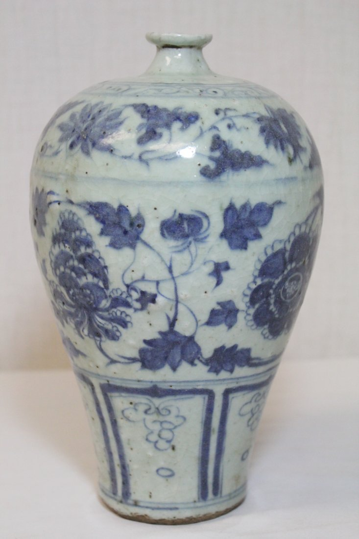 Chinese blue and white meiping - 5
