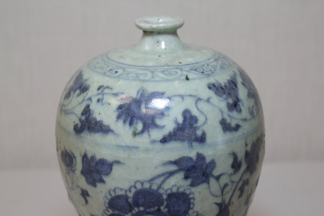 Chinese blue and white meiping - 7