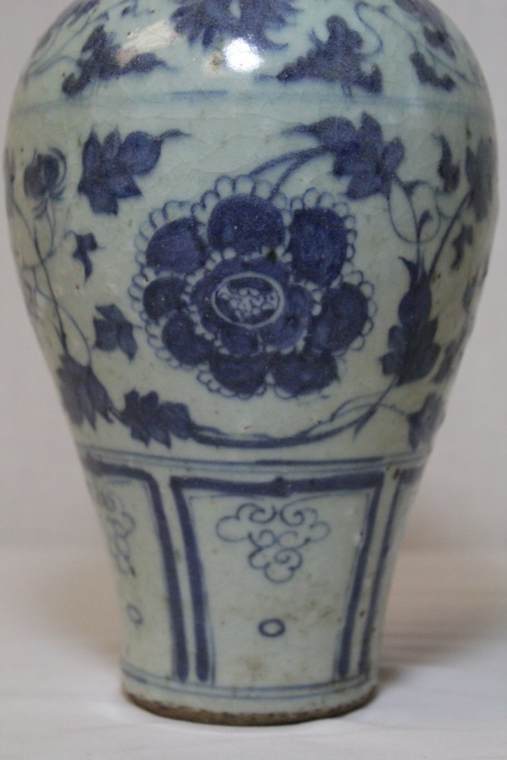 Chinese blue and white meiping - 8