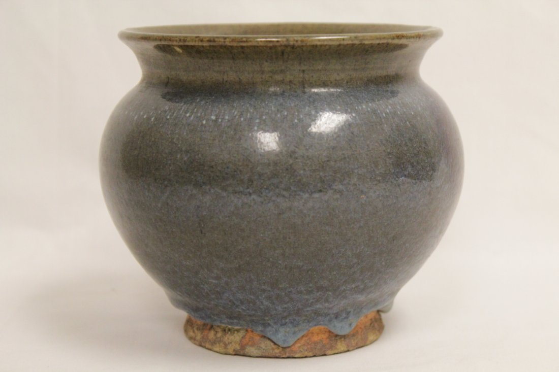 "Chinese Song style porcelain jar, 4.75""Hx5.75""dia - 2"