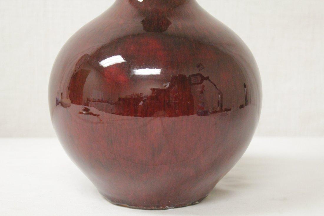 Chinese copper red porcelain bottle vase - 8