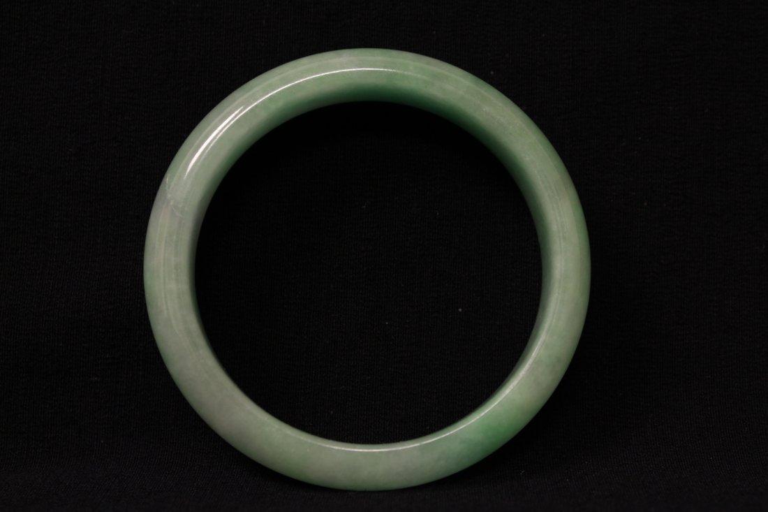 Jadeite bangle bracelet in rosewood box - 5