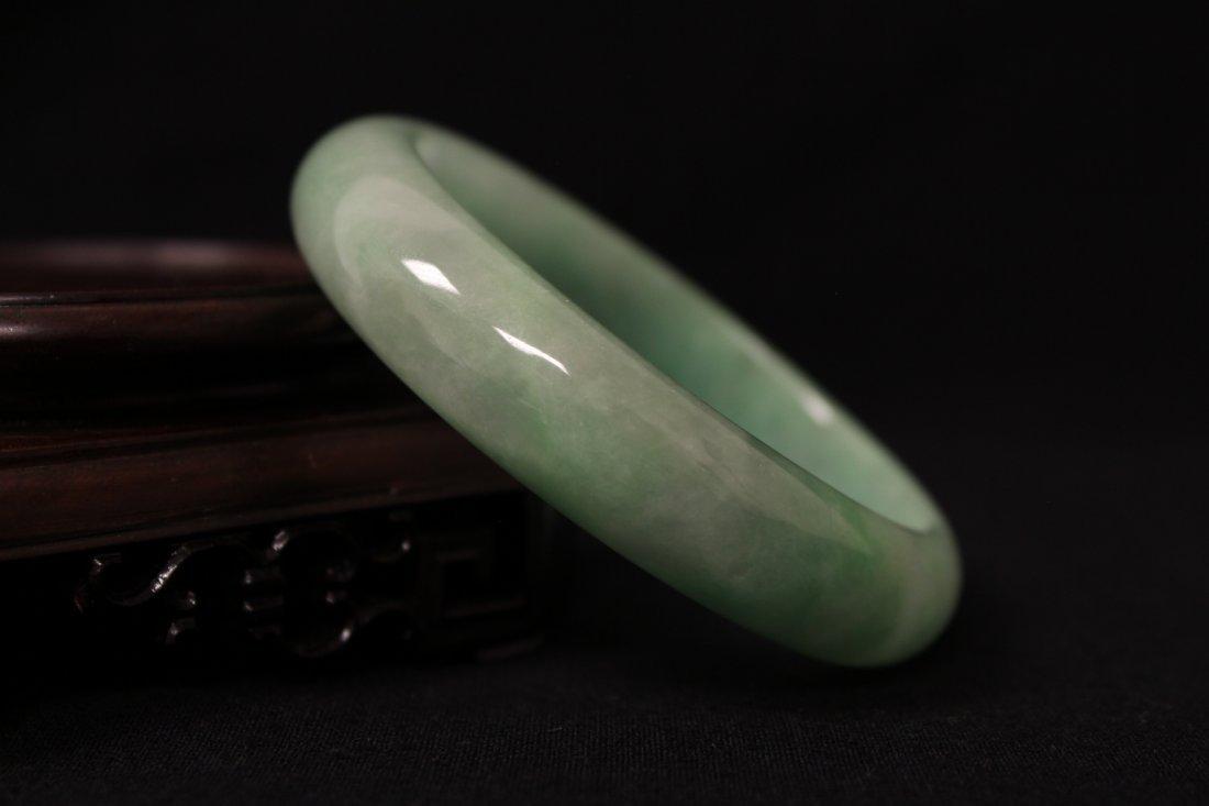 Jadeite bangle bracelet in rosewood box - 6