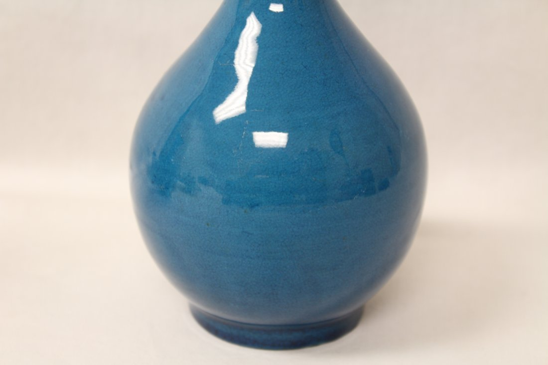 2 Chinese vintage turquoise glazed vases - 4