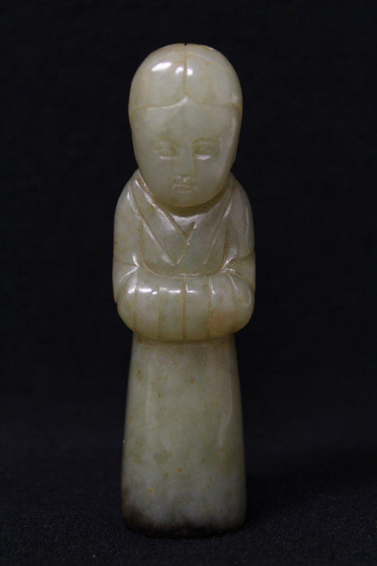 celadon jade carved attendant