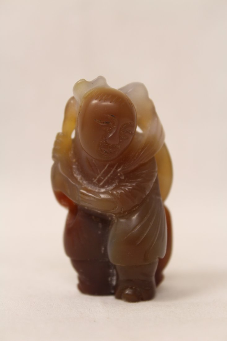 Chinese jade carved figure