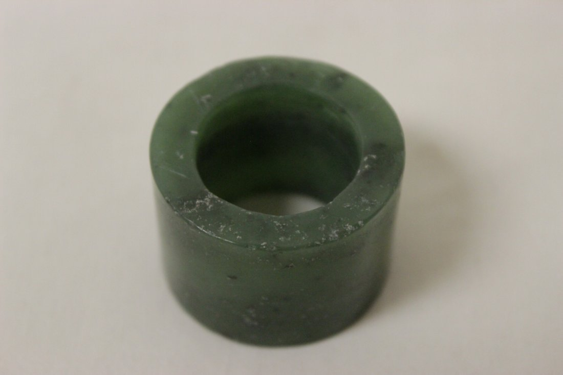2 jade like stone archer's rings - 8
