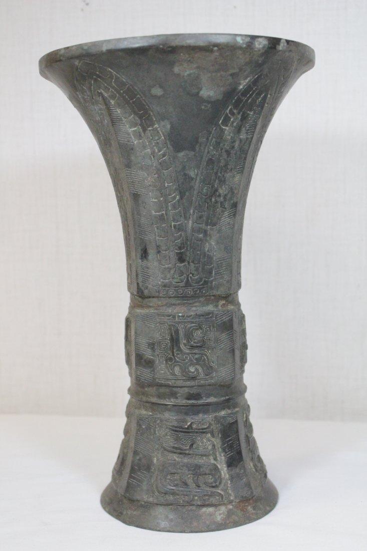 Chinese bronze gu - 4