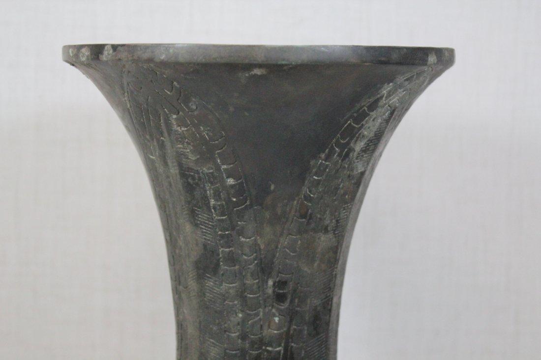Chinese bronze gu - 6