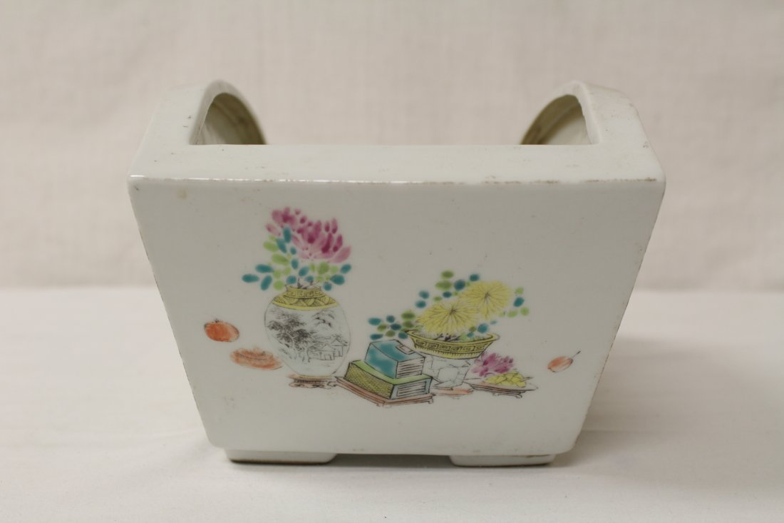 Chinese famille rose planter - 6