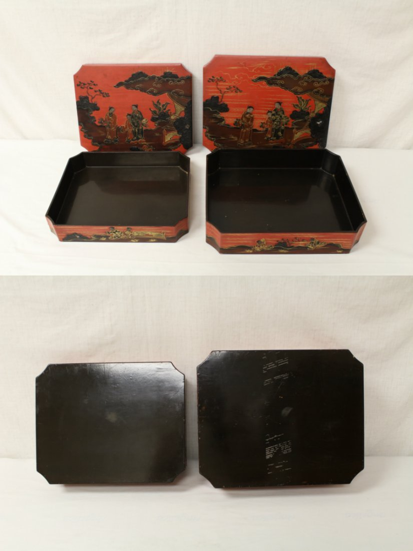 2 Chinese lacquer boxes - 10