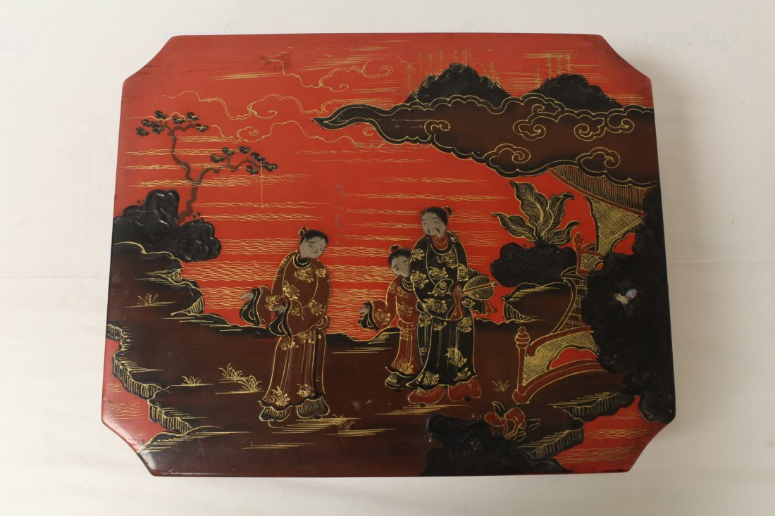 2 Chinese lacquer boxes - 2