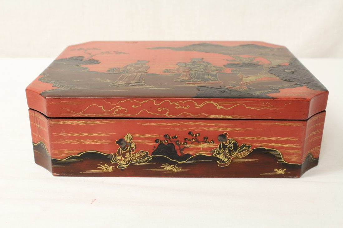 2 Chinese lacquer boxes - 3