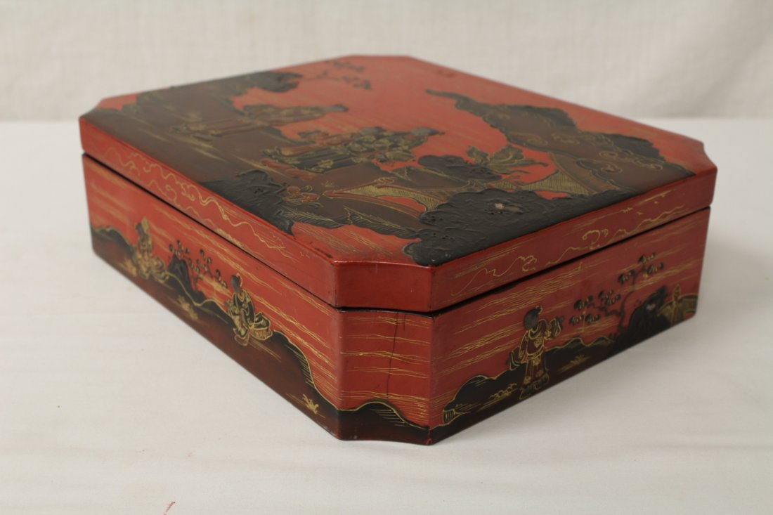 2 Chinese lacquer boxes - 4