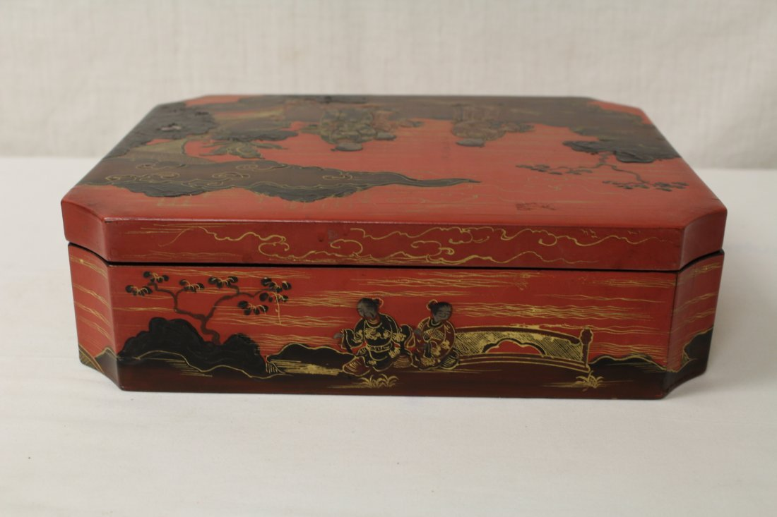 2 Chinese lacquer boxes - 5