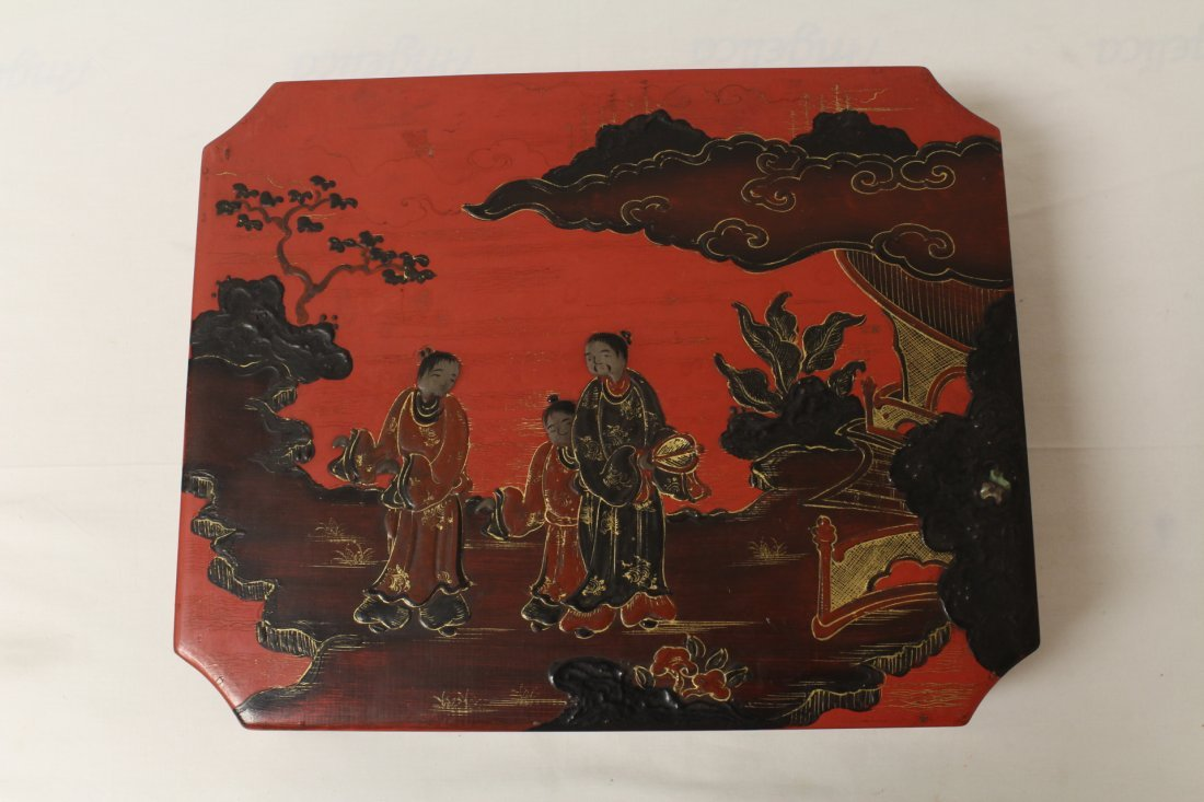 2 Chinese lacquer boxes - 6