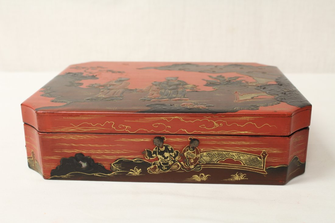 2 Chinese lacquer boxes - 7