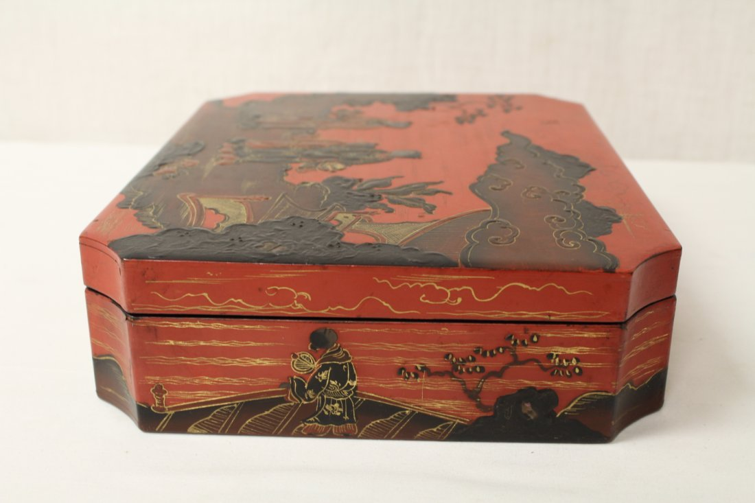 2 Chinese lacquer boxes - 8
