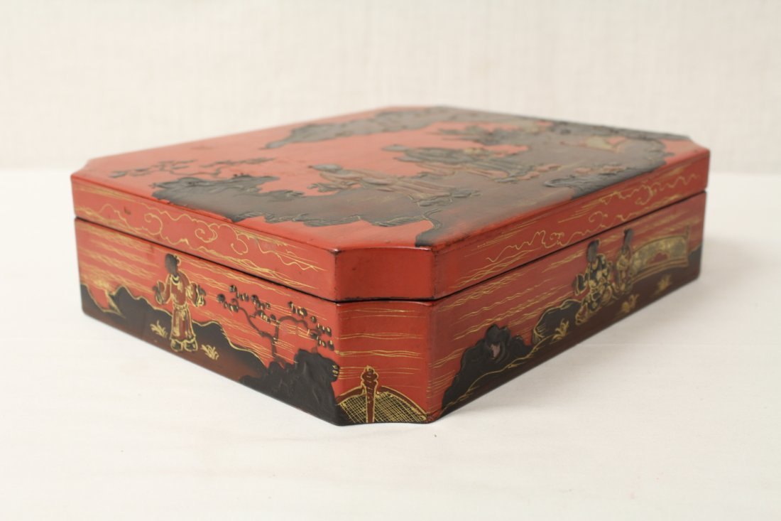 2 Chinese lacquer boxes - 9