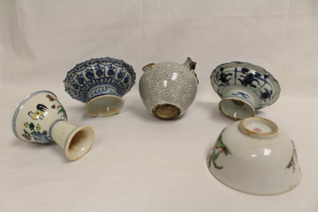 5 pieces Chinese porcelain - 2