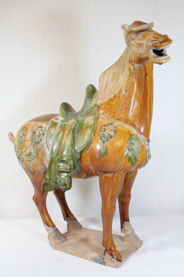Chinese sancai style pottery horse