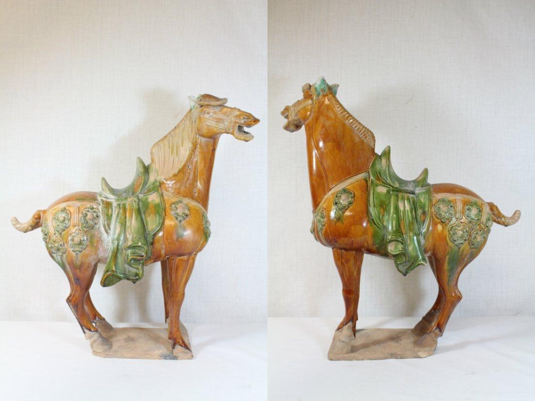 Chinese sancai style pottery horse - 2