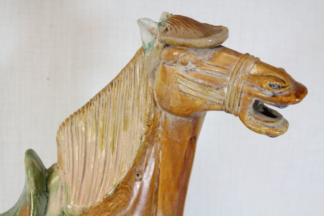 Chinese sancai style pottery horse - 8