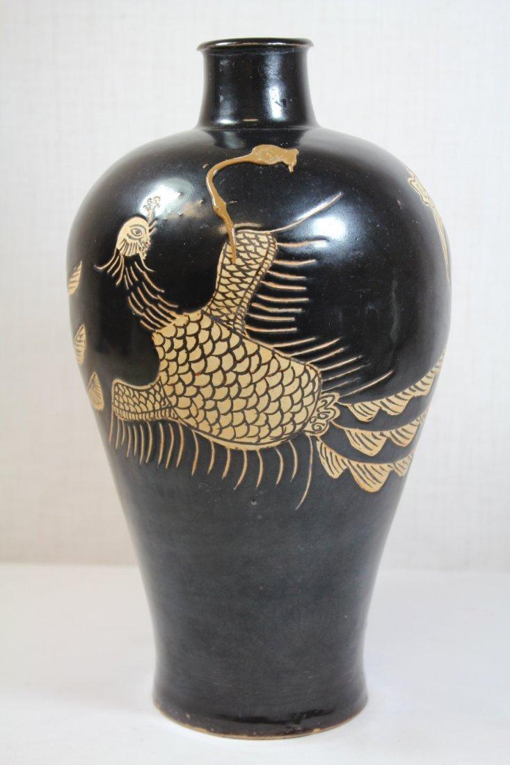 Chinese Song style black glazed vase