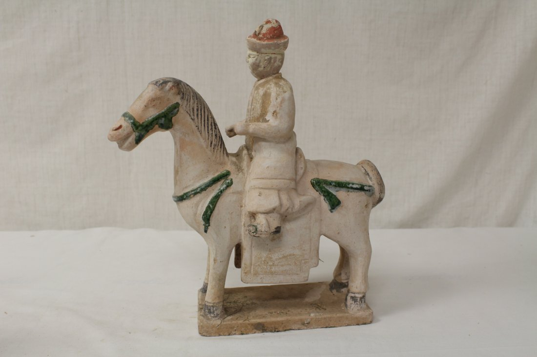 2 Tang style pottery figures - 2